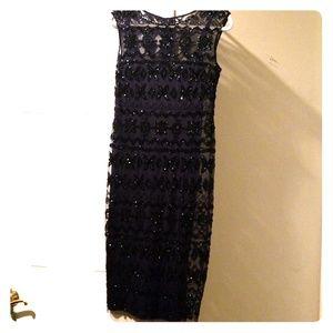 Adrianna Papell fully beaded dress - Navy/ 6